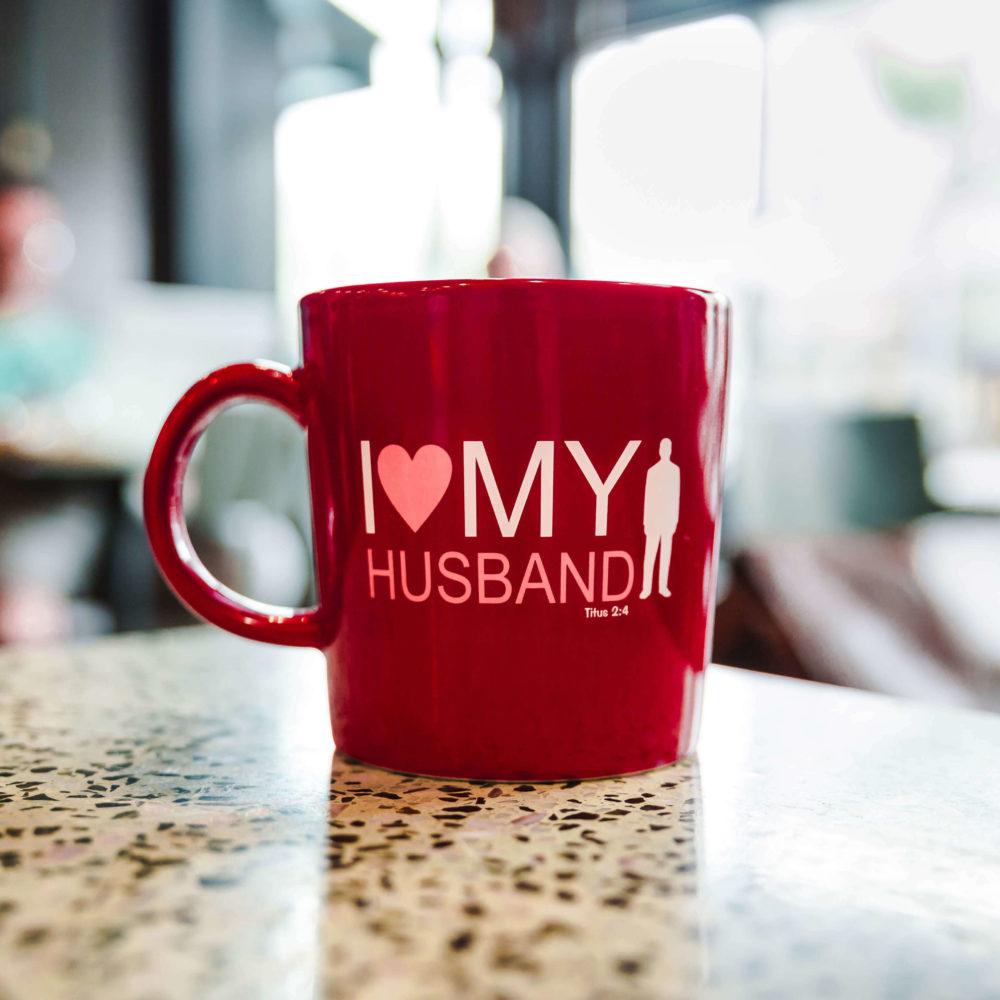 I Love My Husband Red Mug Titus 2 4